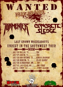 tormentor live dates