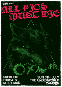All Pigs Must Die UK exclusive show