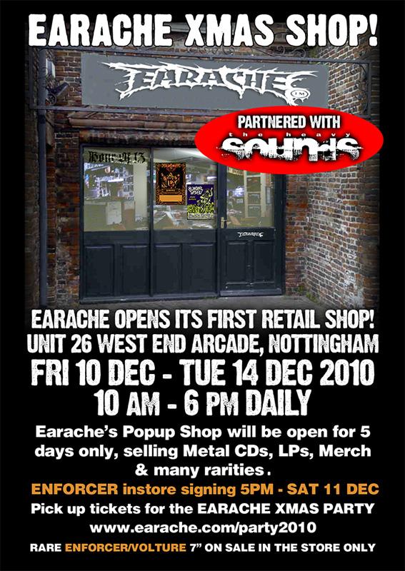 Earache to open temporary shop