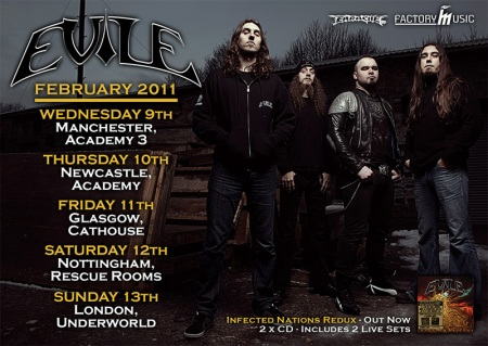 Evile return to the UK