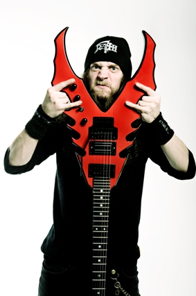 Evile guitarist causes destruction…